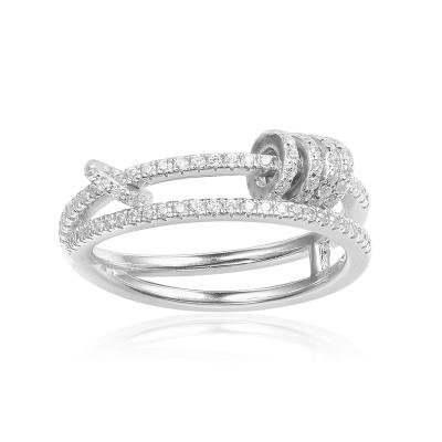 APM Monaco愛意纏繞戒指 S925銀情侶禮物時來運轉許愿戒指銀飾品首飾A17573OX