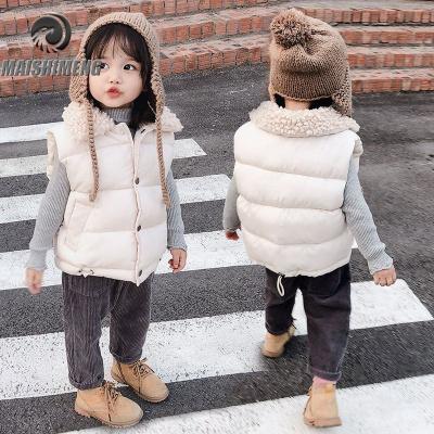 【精品特賣】秋冬新款兒童羽絨棉馬甲加厚男女童面包背心寶寶保暖坎肩時尚外套