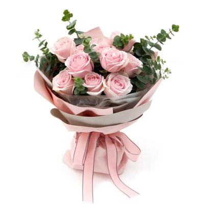 鼎卉鲜花同城配送11朵粉玫瑰花束送女友爱人女神老婆圣诞节情人节生日礼物北京深圳广州西安上海贵阳【初心如】11朵粉玫瑰