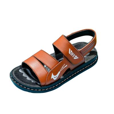 男童涼鞋2019夏季新款真皮中大童男孩沙灘鞋寶寶鞋韓版潮兒童涼鞋