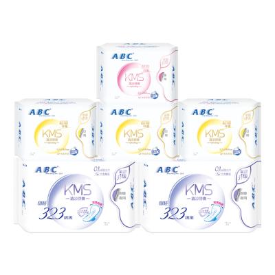 ABC日夜組合衛生巾 纖巧棉柔套裝6包共38片 姨媽巾
