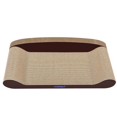 得酷(DEKU) 沙發型貓抓板 咖啡色大號60cm 貓爪板防護抓沙發耐磨練爪器寵物玩具 貓咪用品