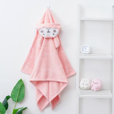 斜月三星 嬰兒帶帽浴巾斗篷珊瑚絨新生兒浴巾 柔軟吸水