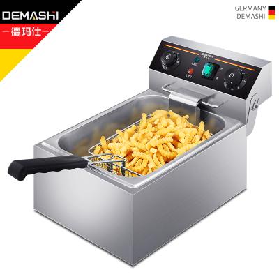 德瑪仕(DEMASHI) 電炸爐商用 小吃油炸鍋油炸機 油條薯條機 電炸鍋 油炸爐 單缸【10升】101D