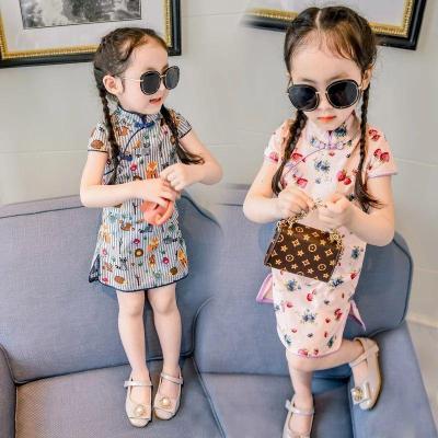 女童連衣裙夏季2020新款兒童洋氣裙子1-3歲5夏裝女寶寶旗袍公主裙臻依緣