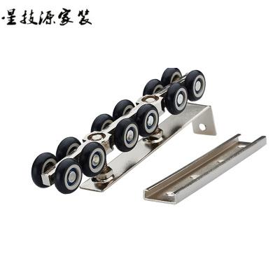 定做 實木移門吊輪軌道滑軌推拉門滑輪吊軌滑輪12輪吊門軌道滑輪尼龍輪T12