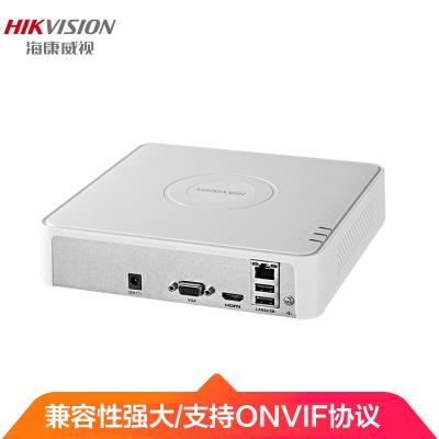 海康威視錄像機4路網絡監控主機硬盤錄像機監控刻錄機高清NVR DS-7104N-F1(B) 標配 (網絡錄像機)