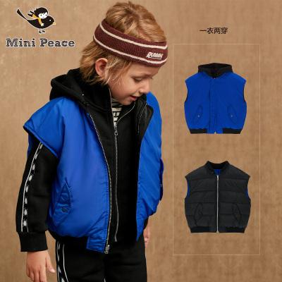 minipeace太平鸟童装男童棉马甲两面穿秋冬装新款儿童休闲外套冬季