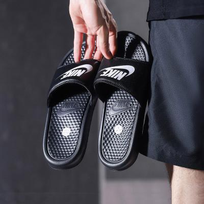 NIKE耐克男拖鞋奧利奧配色輕便涼鞋沙灘鞋343880