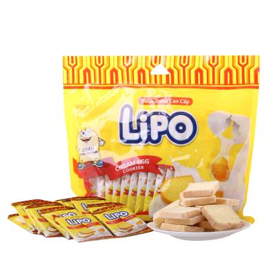 Lipo 奶油雞蛋面包干300g早餐下午茶餅干越南進口零食品