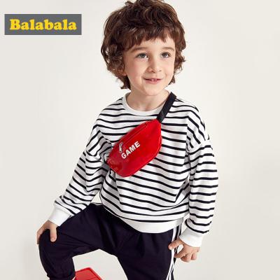 【1件5折】巴拉巴拉男童卫衣2019新款春装童装儿童套头上衣宝宝洋气条纹简约