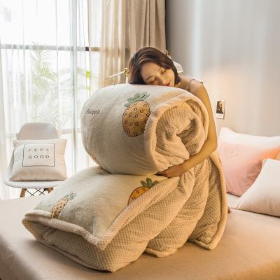 北极绒家纺 加厚保暖被套毯子带拉链两用被套毛毯舒适亲肤盖毯