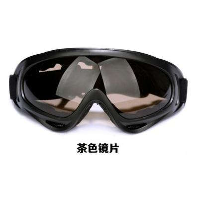 骑行眼镜风镜滑雪镜摩托车防护挡风镜军迷户外战术cs野营护目眼镜 茶色