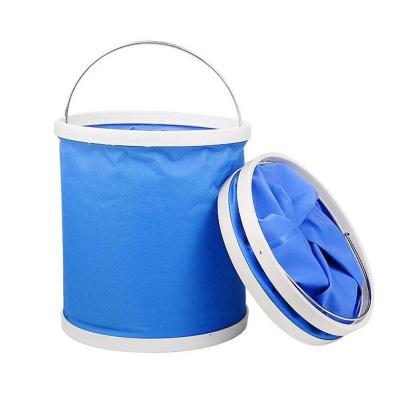 飛拓 車載戶外洗車水桶可折疊 9L汽車折疊水桶 FT59 藍色