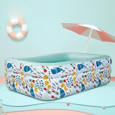 【預售】babycare 嬰兒游泳池家用夏季加厚超大號小孩兒童充氣游泳桶寶寶泡澡桶200*150*60cm