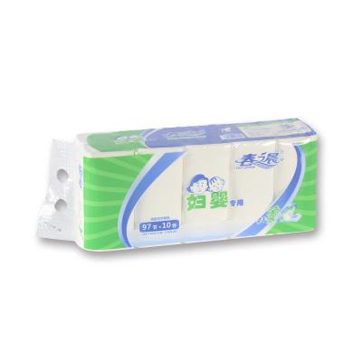 康洁母婴春之晨系列 超韧四层80g*30卷 3提 卫生纸无芯卷纸