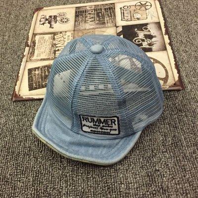 1-6歲兒童網夏季平沿帽寶寶夏天透氣牛仔棒球帽遮陽帽
