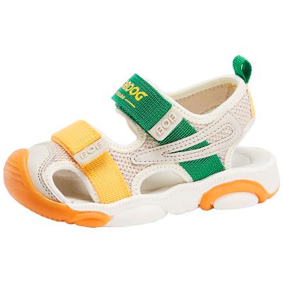 BOBDOG HOUSE巴布豆童鞋兒童涼鞋夏季包頭寶寶男女通用軟底沙灘鞋子6256