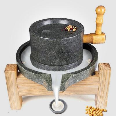 石磨盘小石磨家用石磨豆浆机芝麻糊磨浆机豆腐机 上盘17下盘27不含木架