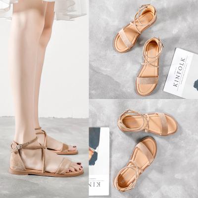 跨馬KYMA 夏季涼鞋女鞋子女士潮流2020新款青年露趾外穿休閑涼鞋L