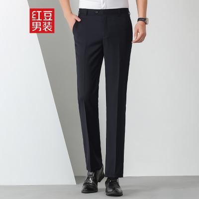 HODO紅豆男裝 男士西褲 2020春季商務簡約YKK拉鏈輕薄冰涼絲彈力有型中腰西褲長褲男