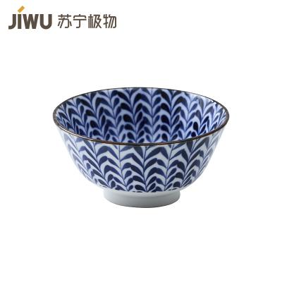 苏宁极物 日本制造美浓烧陶瓷碗 碧柳丝绦