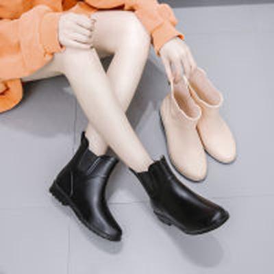 韓國時尚雨鞋女靴成人水靴防水防滑套鞋膠鞋加絨保暖水鞋女 莎丞(SHACHEN)
