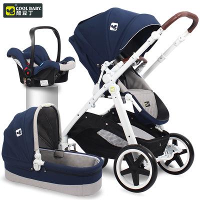 coolbaby高景观婴儿推车可躺可坐婴儿车避震夏多功能双向宝宝手推车三合一婴儿车