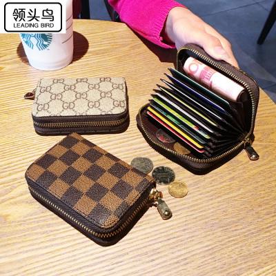 領頭鳥 歐美駕駛證套拉鏈卡包女式男士風琴卡夾信用卡套小零錢包卡片包潮