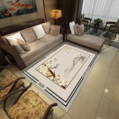 幸福派 地毯新中式簡約現代美式輕奢中國風客廳沙發茶幾臥室可機洗可定制現代簡約地毯新中式客廳茶幾毯家用中國風沙發北歐