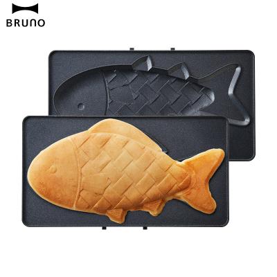 日本BRUNO 鲷鱼烧烤盘plus BOE044-FISH 轻食机配件蛋糕盘烤盘