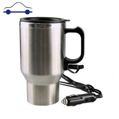 車載電熱水杯 車用熱水杯 加熱杯汽車保溫杯100度 燒水壺車熱水器 舒適主義 12V內膽不銹鋼保溫杯保溫不可以燒開水