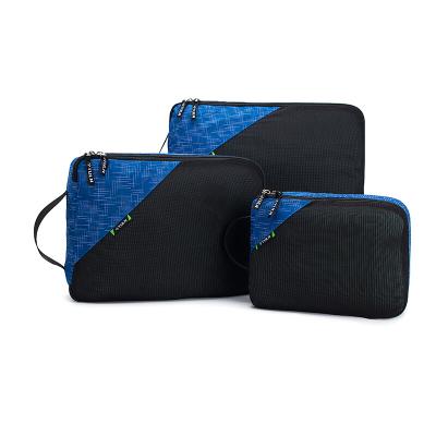 拓蓝 (TULN)旅行衣物收纳三件套 防水衣物收纳袋可视化网格分类收纳包