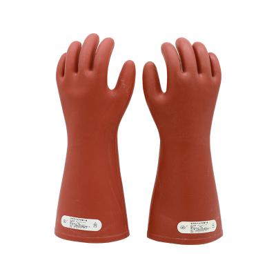 双安 高压10KV橡胶绝缘手套 1级(手型)耐压3KV电工防触电手套 均码