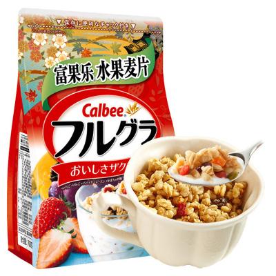 日本进口 卡乐比calbee富果乐水果麦片原味袋装 700g