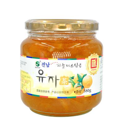 韩国进口 全南 蜂蜜柚子茶580g 蜂蜜柚子茶 果肉含量丰富 酸酸甜甜 美味可口 包装升级 新旧包装随机发货