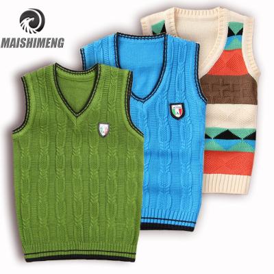 【精品特賣】童裝春裝新款無袖中小童男童毛衣背心馬甲針織衫兒童毛衣背心坎肩