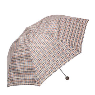 天堂 339S蘇格蘭風格格子三折晴雨傘