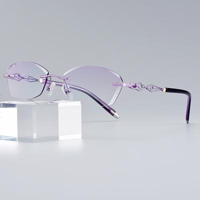 抗藍光防輻射眼鏡女保護眼睛玩電腦看手機變色配近視疲勞平光護目