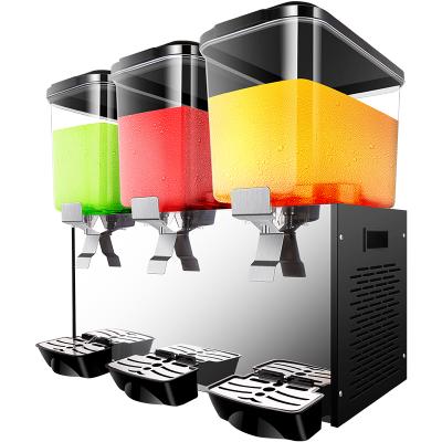 美萊特雙缸飲料機冷熱雙溫自助果汁機商用三缸全自動冷飲機