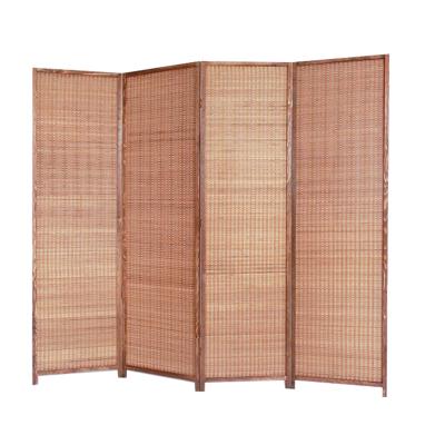 汐巖咖啡竹餐廳酒店屏風隔斷臥室遮擋家用實木屏風折疊移動辦公室屏風