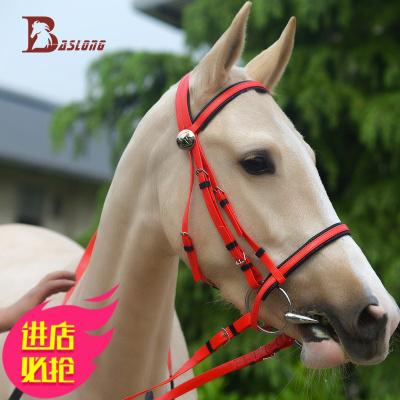 馬籠頭 水勒韁繩鼻勒紅色PVC套裝高性價比牽馬龍頭 八尺龍牽馬繩