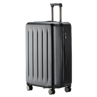 90分旅行箱 靜音萬向輪行李箱大容量密碼箱 純PC拉桿箱男女旅行箱 幻夜黑 24寸