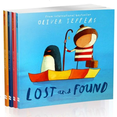 Oliver Jeffers 智慧小孩 亲子绘本4本英文原版Lost and Found,Up and Down,T