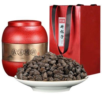 【赠茶勺】滇湘 普洱茶碎银子 500g 罐装 2016年原料发酵 糯米香茶化石 茶叶 普洱茶熟茶 普洱茗茶