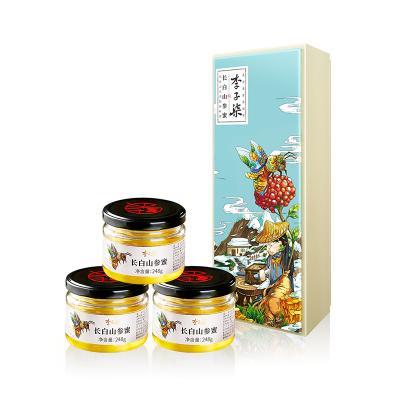 李子柒 长白山参蜜 椴树蜜人参蜜东北野生蜂蜜土蜂蜜 3瓶礼盒装