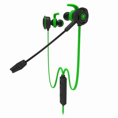浦記(PLEXTON)G30吃雞游戲耳機入耳式電腦手機K歌耳麥 雙麥降噪帶線控 可拆卸軟麥 屏蔽線記憶耳棉2米線 綠色