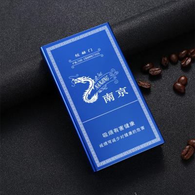 滑盖细烟烟盒超薄20支烟壳自动弹盖创意个性可装南京牌炫赫