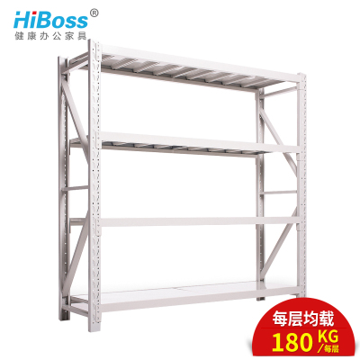 HiBoss置物架倉庫貨架展示架多層自由組合鐵架子每層承重180kg