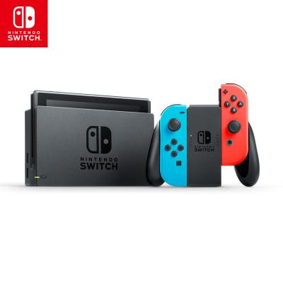 【套餐】任天堂Nintendo Switch游戲機配電光紅、電光藍Joy-Con+豪華版游戲兌換卡